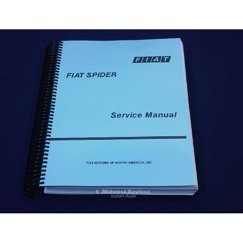 factory service manual fiat 124 spider 1975 85 new rh midwest bayless com fiat spider shop manual pdf fiat spider service manual
