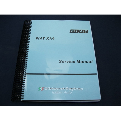 7297 fiat x19 factory service manual (fiat bertone x19 1979 88) new 1979 Fiat X1 9 Bertone at readyjetset.co