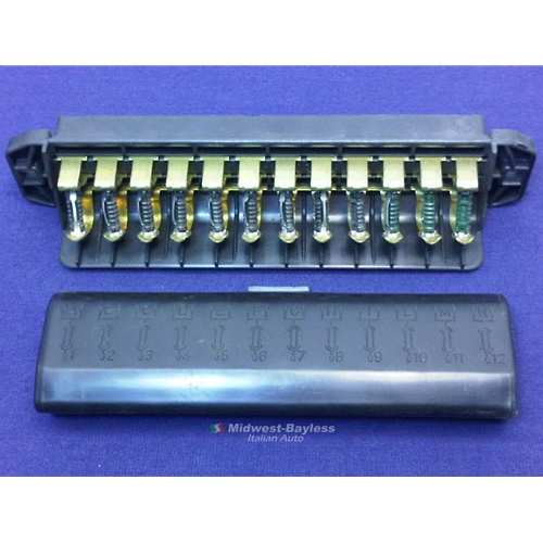 fuse block box 12 fuse fiat 124 spider 1978 82 oe nos rh midwest bayless com Fiat X1 9 Engine Swap fiat x19 fuse box