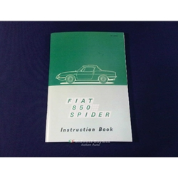 Owners       Manual        Fiat    850    Spider    1967  1968   NEW