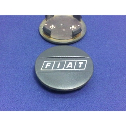 "Steel Wheel Center Cap Plastic ""FIAT"" (Fiat 124, X19, 128, 131) - U8"