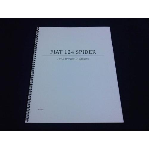 fiat 124 s c wiring diagrams manual (fiat 124 spider 1978) new Electrical Relay Diagram wiring diagrams manual (fiat 124 spider 1978) new