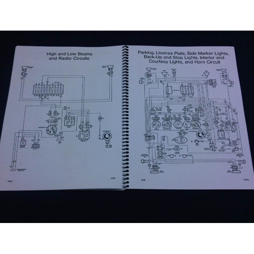 wiring diagrams manual (fiat 124 spider 1978) - new, Wiring diagram