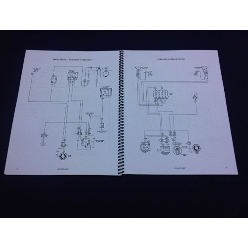 wiring diagrams manual (fiat 124 spider 1981-82) - new  show picture 1   show picture 2  show picture 3