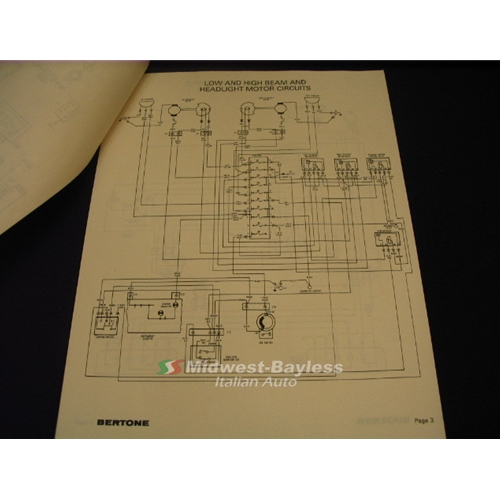 wiring diagrams manual fiat bertone x19 1983 84 new rh midwest bayless com 1973 Fiat 1300 Wiring-Diagram Fiat 500 Wiring Diagram 2011