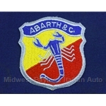 """ABARTH & C."" Scorpion Crest / Emblem Patch - Blue"
