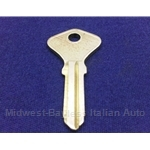 Key Blank - Door / Trunk (Fiat Pininfarina 124 Spider 1979-On) - NEW