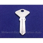 Key Blank - Door / Trunk (Fiat Pininfarina 124 Spider 1979-On, Fiat 850 Spider) - NEW