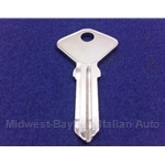 Key Blank - Door / Trunk (Fiat 124 Spider 1967-78 + 1979-On) - NEW