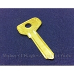 Key Blank - Door/Trunk 3-Series (Fiat X1/9 1985-88, 124 Coupe/Sedan, 131, 128) - NEW
