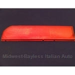 Turn Signal Lens Rear Left - Red (Lancia Beta Coupe All) - OE NOS