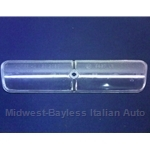 License Plate Light Lens (Fiat 850 Coupe, 124 Coupe, 128) - OE NOS