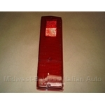 LENS - Red tail light (Altissimo) left for 1969-1974 Fiat 124 Sedan - NEW