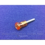 Lens Screw 15mm - AMBER (Lancia Scorpion, 131, 124 Coupe) - OE NOS