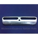 License Plate Light Cover Chrome (Fiat 850 Coupe, 124 Coupe, 124 Sedan, 128) - OE NOS