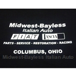Midwest-Bayless Back Logo Ladies V-Neck T-Shirt Black (1X-Large)