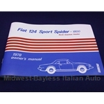 Owners Manual (Fiat 124 Spider 1978) - NEW