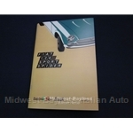 Owners Manual (Fiat 124 Spider 1971) - NEW