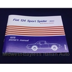 Owners Manual (Fiat 124 Spider 1975) - NEW