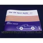 Owners Manual (Fiat 124 Spider 1977) - NEW
