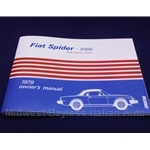 Owners Manual (Fiat 124 Spider 2000 1979) - NEW