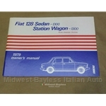 Owners Manual (Fiat 128 Sedan and Wagon 1979) - OE NOS
