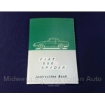Owners Manual (Fiat 850 Spider 1967 + 1968) - NEW
