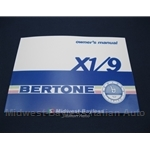 Owners Manual (Fiat X1/9 1985-88 - BERTONE) - NEW