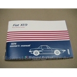 Owners Manual (Fiat X1/9 1974) - NEW