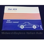 Owners Manual (Fiat X1/9 1975) - NEW