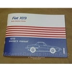 Owners Manual (Fiat X1/9 1978) - NEW