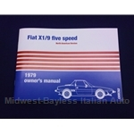 Owners Manual (Fiat X1/9 1979) - NEW