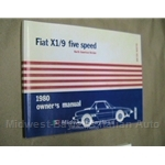 Owners Manual (Fiat X1/9 1980 Carbureted) - NEW