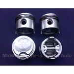Piston Set 66.0mm High Compression 2-Ring (Fiat 850 843/903cc) - OE