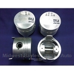 Piston Set 84.0mm DOHC - 2000 Style (Fiat 124, 131, Lancia 1.8L/2.0L) - U8