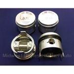 Piston Set 84.0mm DOHC - 2000 Style (Fiat 124, 131, Lancia 1.8L/2.0L) - OE