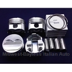 Piston Set 87.5mm SOHC Forged 10.0 - 11:1 w/Rings (Fiat X19, 128, Yugo) - NEW