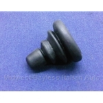 Side View Mirror - Thru Glass - Adjuster Knob Boot  (Pininfarina 124 Spider 1983-85) - OE NOS