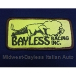 "Rectangular ""BAYLESS RACING"" Patch - Yellow Brown Bayless"