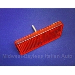 Reflector Red Carello (Fiat 850 Spider 1970-73) - OE NOS