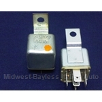Relay 5-Pin Sipea 0454 Charge Light (Fiat 124 Spider Coupe 1975) - OE NOS