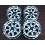 "Alloy Wheels SET 4x ""PANASPORT"" 14x6 (Fiat X19, 124, 131, 128, Lancia) - NEW"