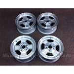"Alloy Wheels SET 4x CD-16 ""Iron Cross"" - SHADOW WINDOWS (Fiat X1/9, 850, 128, Lancia Scorpion) - RECONDITIONED"