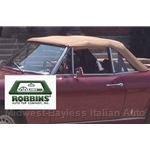 ROBBINS - Convertible Top BEIGE (Tan) Cloth (Fiat 124 Spider 2000 1979-85) - NEW