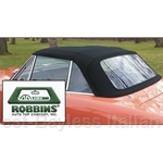 ROBBINS - Convertible Top Black Cloth (Fiat 124 Spider 1968-78) - NEW