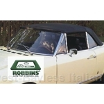 ROBBINS - Convertible Top Black Vinyl (Fiat 124 Spider 1968-78) - NEW
