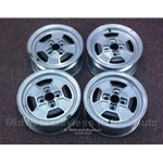 "Alloy Wheels SET 4x CD-16 ""Iron Cross"" - SHADOW WINDOWS (Fiat X1/9, 850, 128, Lancia Scorpion) - U8"
