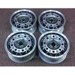 "Alloy Wheels SET 4x Speedline ""Phone Dial"" (Fiat Bertone X19 124 128 850) - REFURBISHED"
