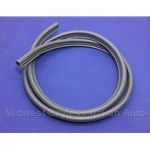 Rubber Weatherstrip Door Seal L/R (Fiat 124 Coupe) - NEW