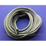 Rubber Weatherstrip Seal Front or Rear Trunk BY THE FOOT (Fiat Lancia) - NEW